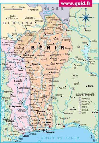 Emergence : Projet Bénin Marne Afrique, Le Bénin carte
